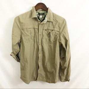 REI Boys Long Sleeve Button Down Hiking Shirt XL